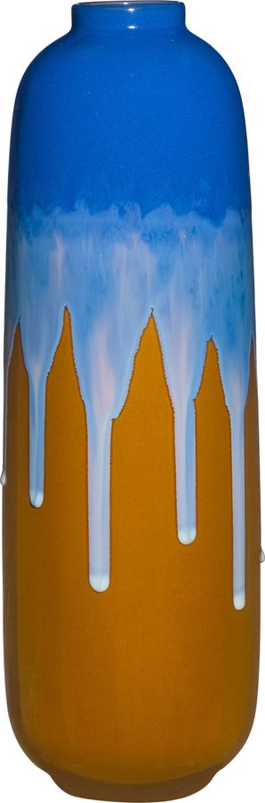Ваза Lefard Глазурь, 101-1050, синий, желтый, 15 х 15 х 46 см стоимость