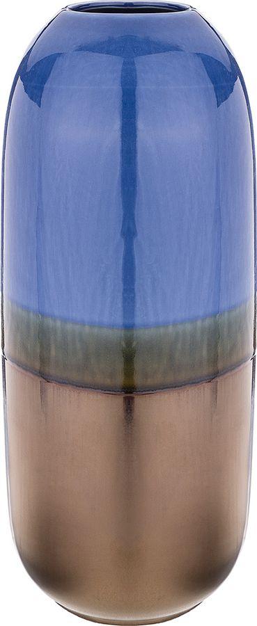 Ваза Lefard, 146-1030, синий, коричневый, 16 х 16 х 38 см