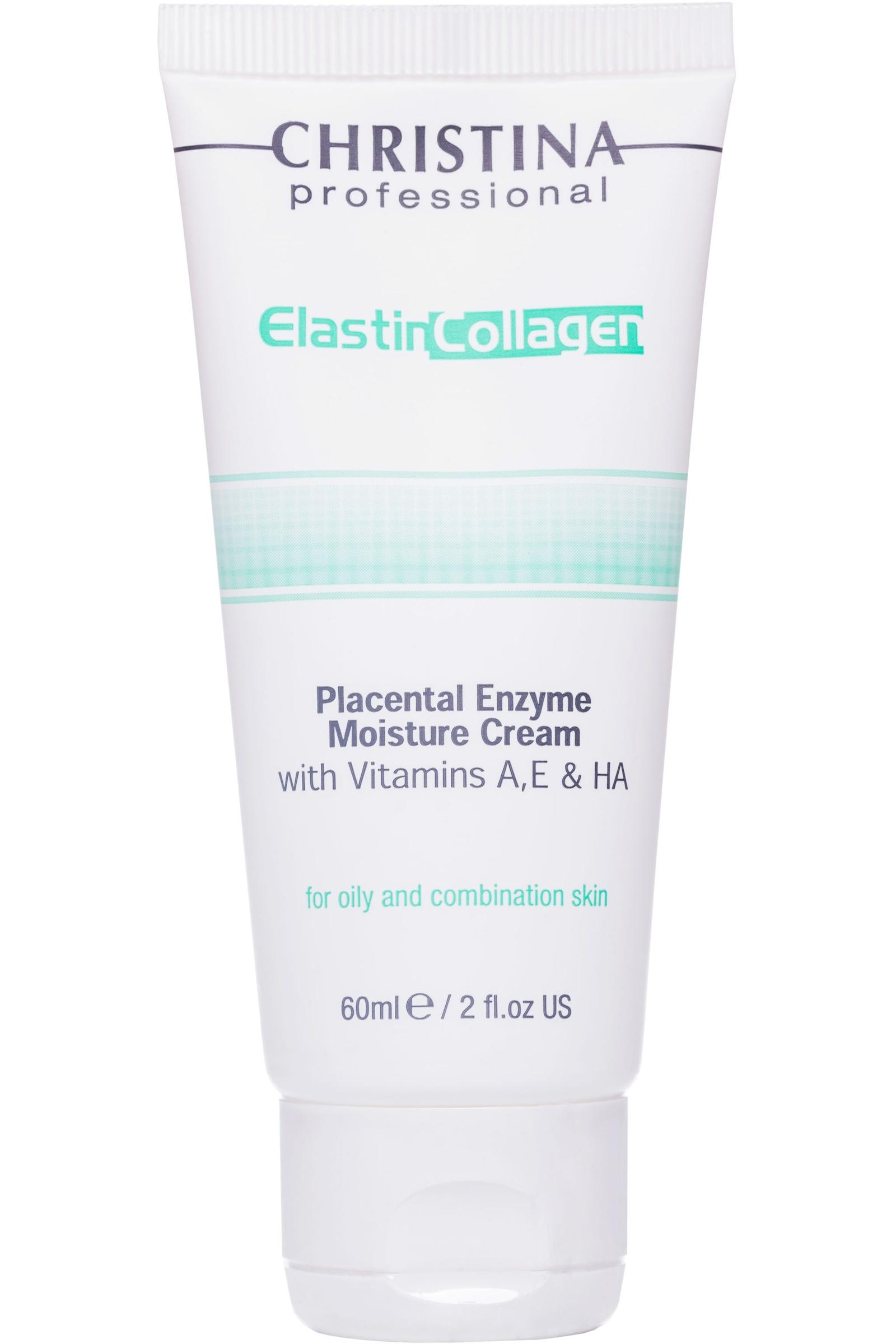 Крем для ухода за кожей CHRISTINA Увлажняющий крем для жирной кожи ElastinCollagenPlacentalEnzymeMoisture Cream withVit.A,E & HA for oily цена