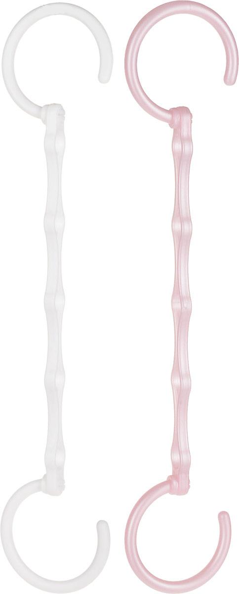Набор вешалок для одежды Home Queen Экономия пространства, 74295, в ассортименте, 2 шт набор вешалок для одежды home queen цвет молочный 3 шт