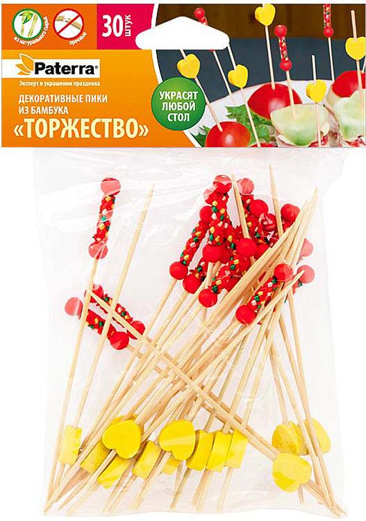 Пики для канапе Paterra Торжество, 30 шт набор для канапе antella шпаги 24 шт