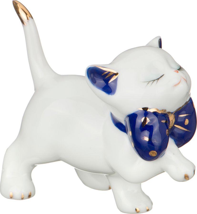 Фигурка декоративная Lefard Кошка, 101-604, белый, высота 8 см