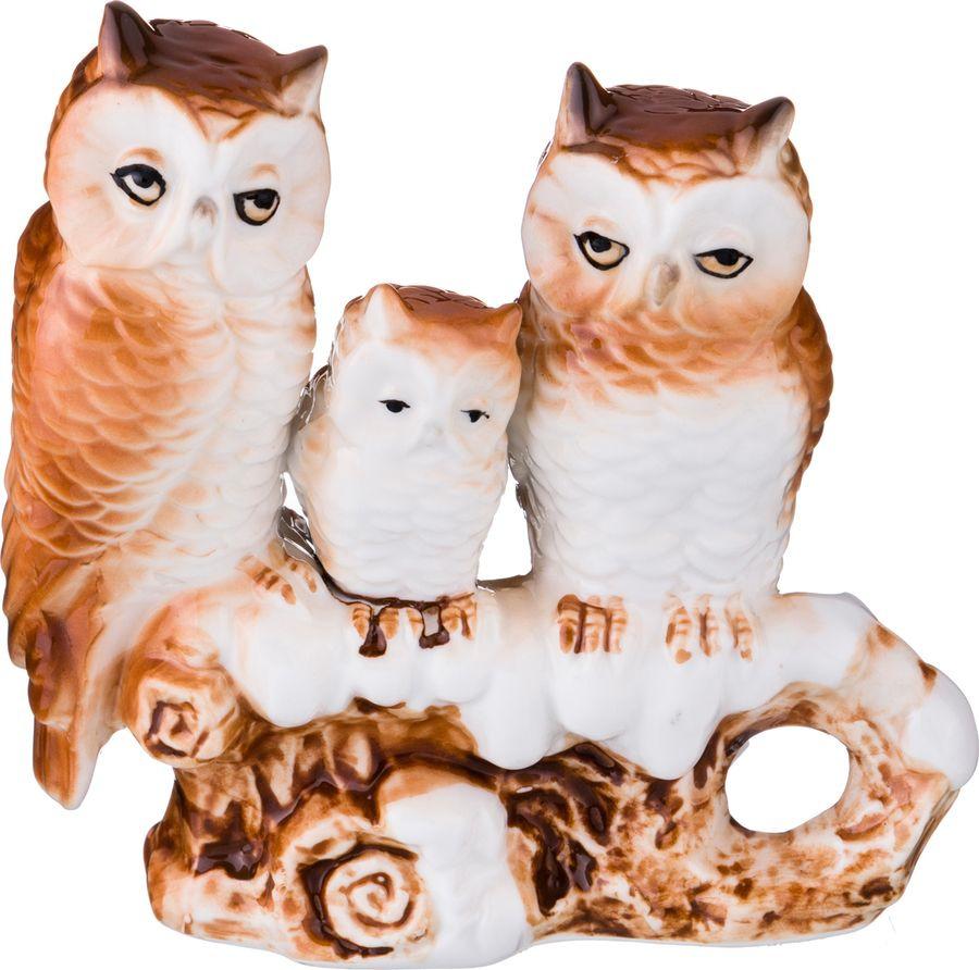 цены на Фигурка декоративная Lefard Совы, 149-052, коричневый, 11,5 х 4 х 12 см  в интернет-магазинах