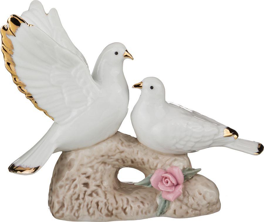 Фигурка декоративная Lefard Голуби, 149-073, белый, 15 х 7 х 12 см салатник lefard 15 х 15 х 7 см 346 13zkw 6