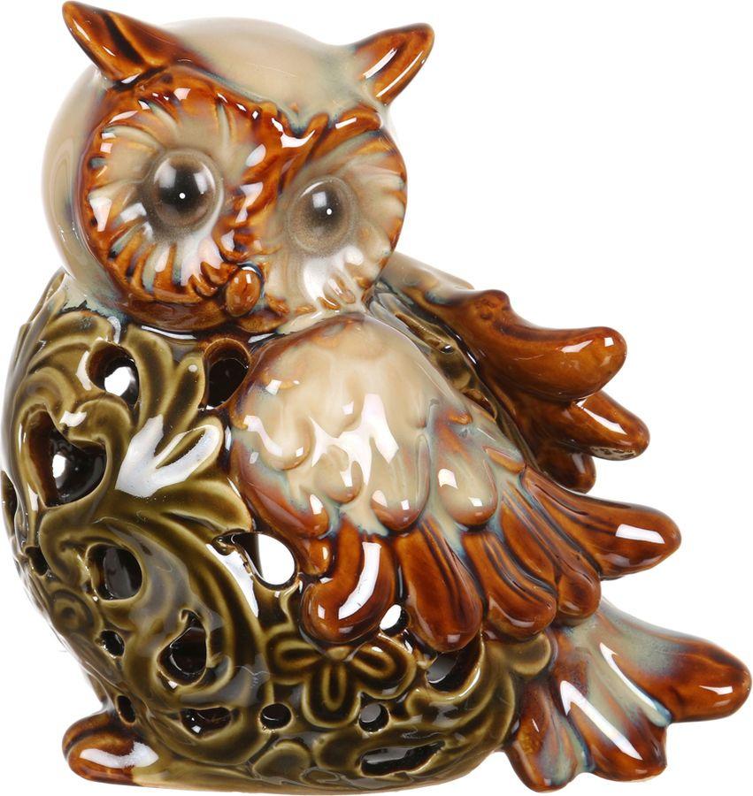 Фигурка декоративная Lefard Сова, 180-064, коричневый, 14 х 11 х 15 см шнуровка бэмбидисней в кор 18шт