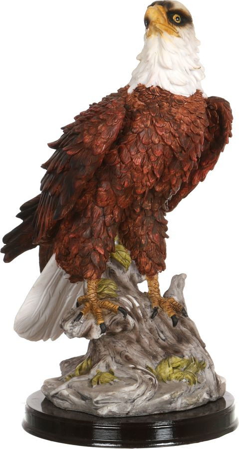 Фигурка декоративная Lefard Орел, 252-001, темно-серый, высота 32 см цена и фото
