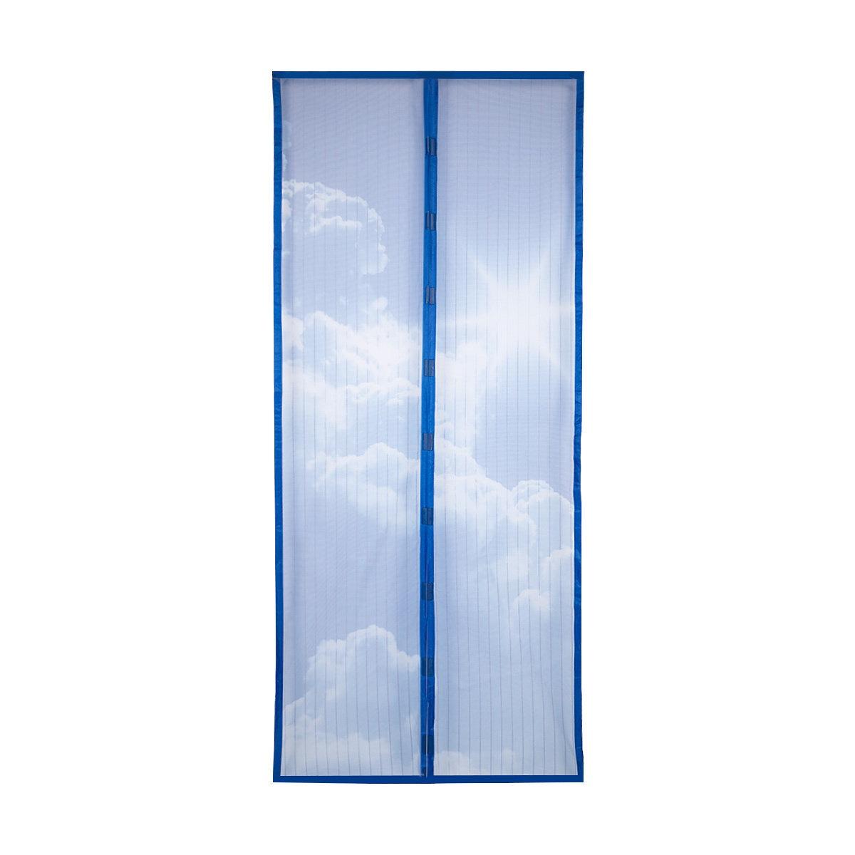 Фото - Сетка антимоскитная MARKETHOT Сетка москитная на дверь на магнитах, цвет синий, синий антимоскитная сетка afa подъемник складной