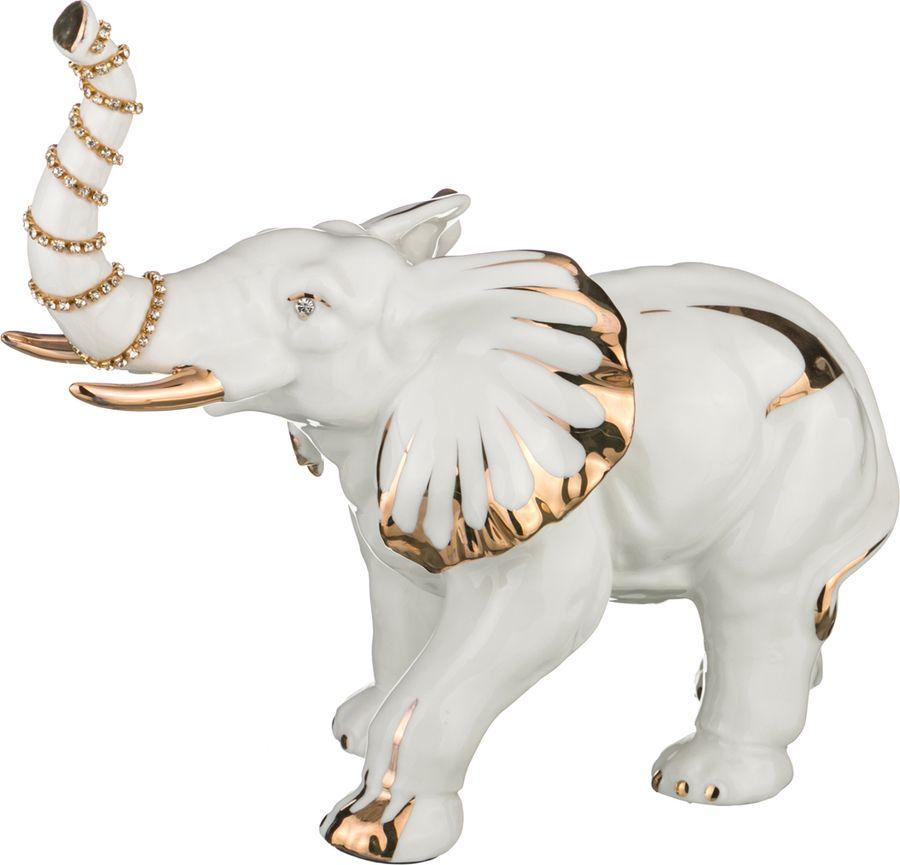 Фигурка декоративная Lefard Слон, 149-416, белый, 27 х 12 х 23 см цена 2017
