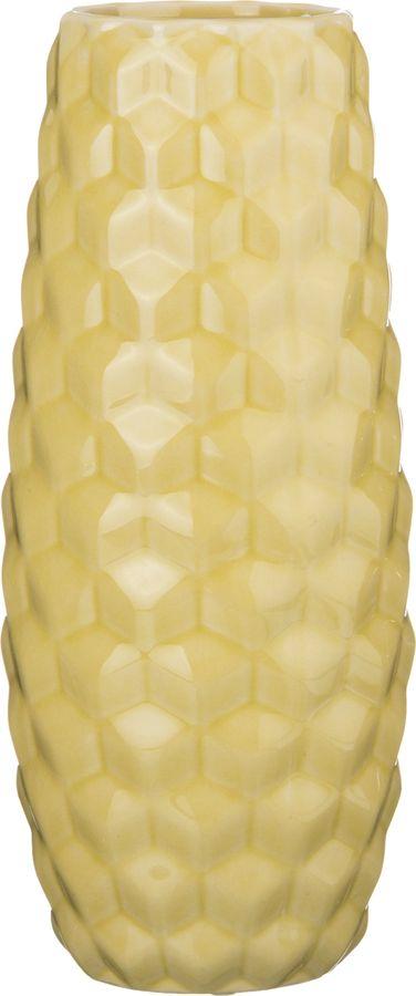 Ваза Lefard Радужные Соты, 232-198, желтый, 12,5 х 12,5 х 30 см232-198