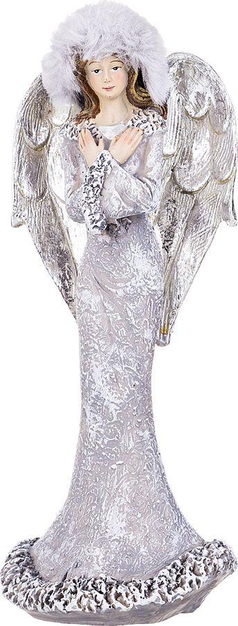 Фигурка декоративная Lefard, 233-205, серый металлик, 8,5 х 8 х 21 см фигурка декоративная обезьянка повар 3 см х 3 см х 8 5 см