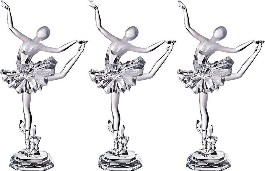 Фигурка декоративная Lefard Балерина, 234-136, светло-серый, 30 х 18 10 см, 3 шт