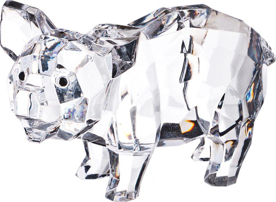Фигурка декоративная Lefard Свинка, 234-138, прозрачный, 11 х 7 х 4 см, 4 шт фигурка декоративная you ll loveкотики 73101 4 х 4 х 8 см 5 шт