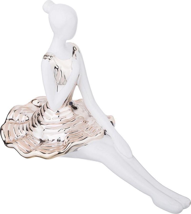 Статуэтка Lefard Балерина Золотая Коллекция, 699-226, белый, 26 х 13 18 см