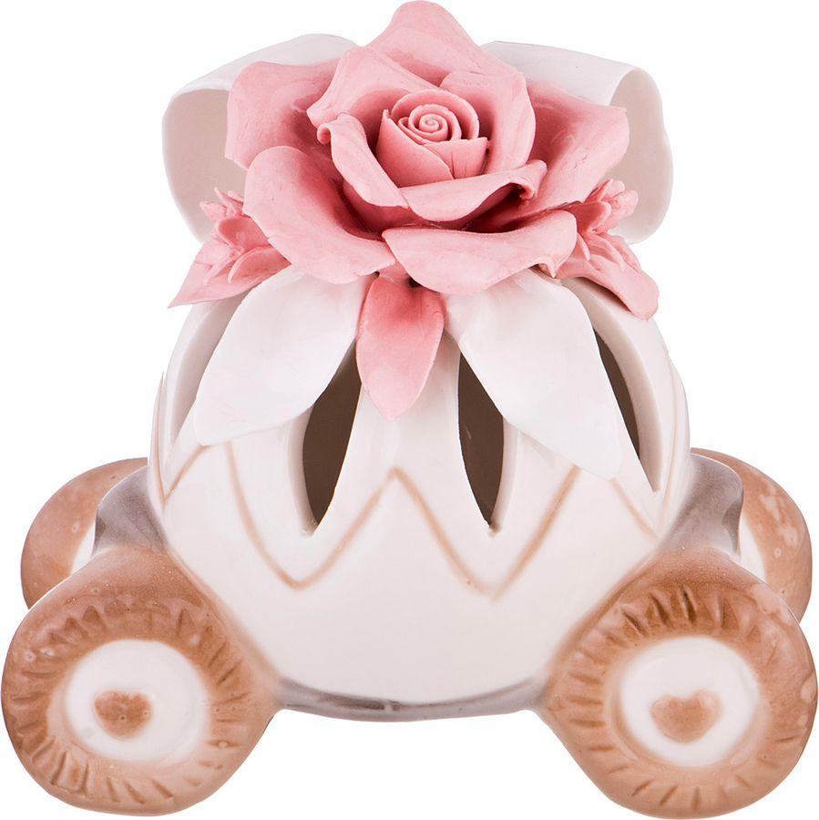 купить Фигурка декоративная Lefard, 146-1006, розовый, 11,7 х 7,4 х 13,7 см по цене 482 рублей