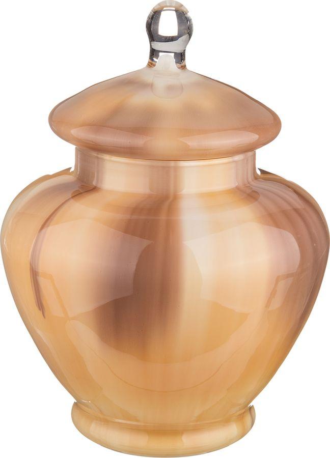 Ваза Lefard Иллюзия с крышкой, 316-931, золотистый, высота 30 см