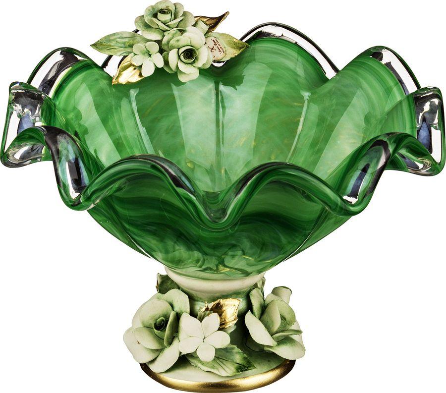 Декоративная чаша Lefard, 647-646, голубой, 25 х 25 х 17 см декоративная чаша lefard 647 645 зеленый 25 х 14 см