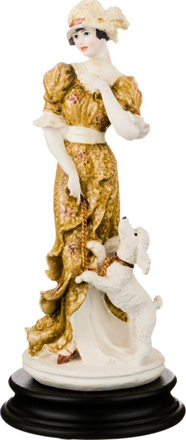 Статуэтка Lefard Девушка с пуделем, 431-088, белый, высота 26 см статуэтка albertini девушка с голубями высота 24 см