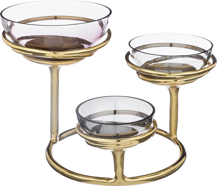 Декоративная чаша Lefard, 732-116, золотистый, 25,50 х 25,50 х 18,50 см