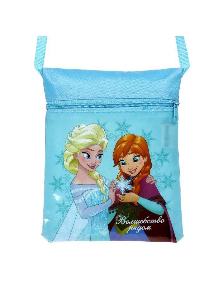 Сумка на плечо Disney детская Волшебство рядом, 4627151967042, голубой цена