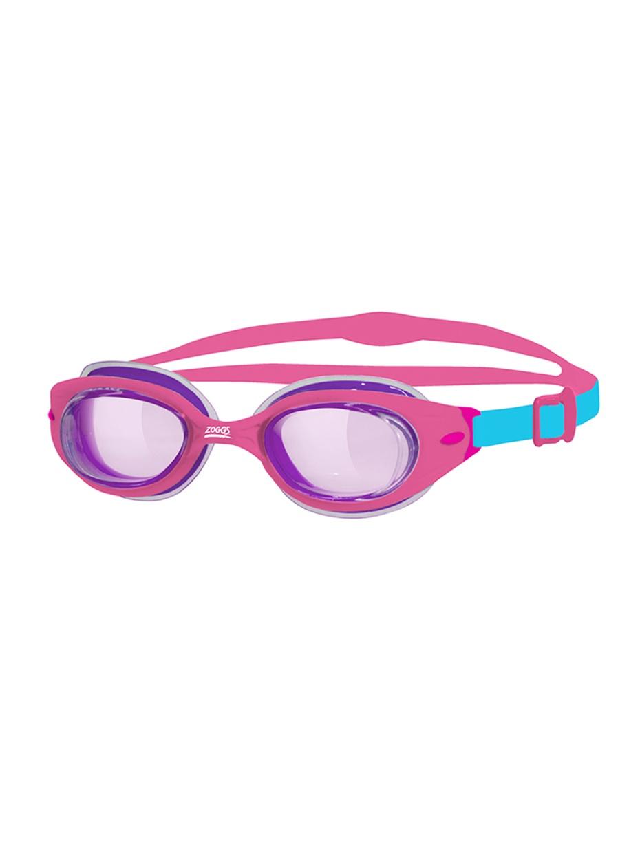 Очки для плаванияZOGGSLittle Sonic Air Junior, фиолетовый, розовый306534Очки для плавания Sonic Air Little предназначены для первого знакомства ребенка с водой. Они подойдут для детей от 0 до 6 лет. Модель мягко прилегает к детской коже, не вызывая дискомфорта и не оставляя пятен вокруг глаз. Комфортная посадка достигается благодаря супермягкому, упругому уплотнителю Air Cushion. Он состоит из двух слоев силикона, между которыми находится воздушная прослойка, что обеспечивает бережное прилегание очков к лицу. Гибкая оправа отлично подстраивается к контурам лица, обеспечивая герметичность. Прочные линзы с UV-фильтром защищают глаза ребенка от ультрафиолета. Они также обработаны составом антифог, который препятствует запотеванию линз. Очки фиксируются раздвоенным силиконовым ремешком, регулирующимся боковыми клипсами. Яркая расцветка Sonic Air Little обязательно порадует ребенка!