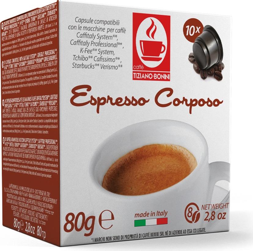Кофе капсульный Caffe Tiziano Bonini Espresso Corposo, для системы Caffitaly, 10 шт цена