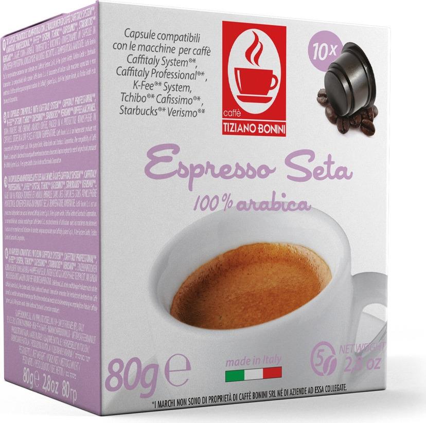 Кофе капсульный Caffe Tiziano Bonini Espresso Seta, для системы Caffitaly, 10 шт цена