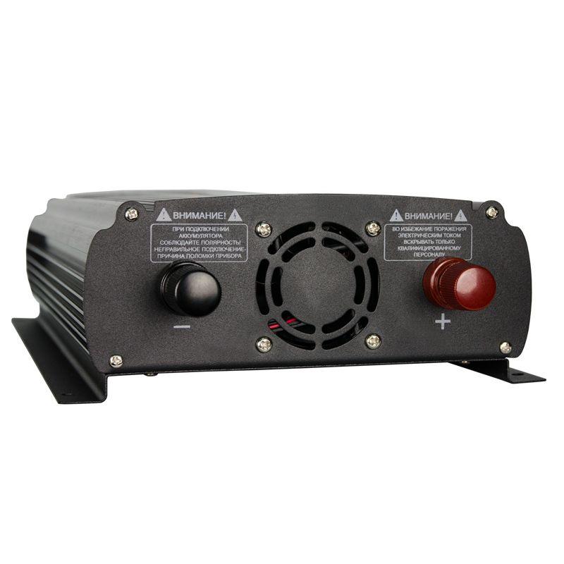 Преобразователь напряжения Энергия AutoLine Plus 1200 с функцией зарядки аккумулятора, Е0201-0016, черный