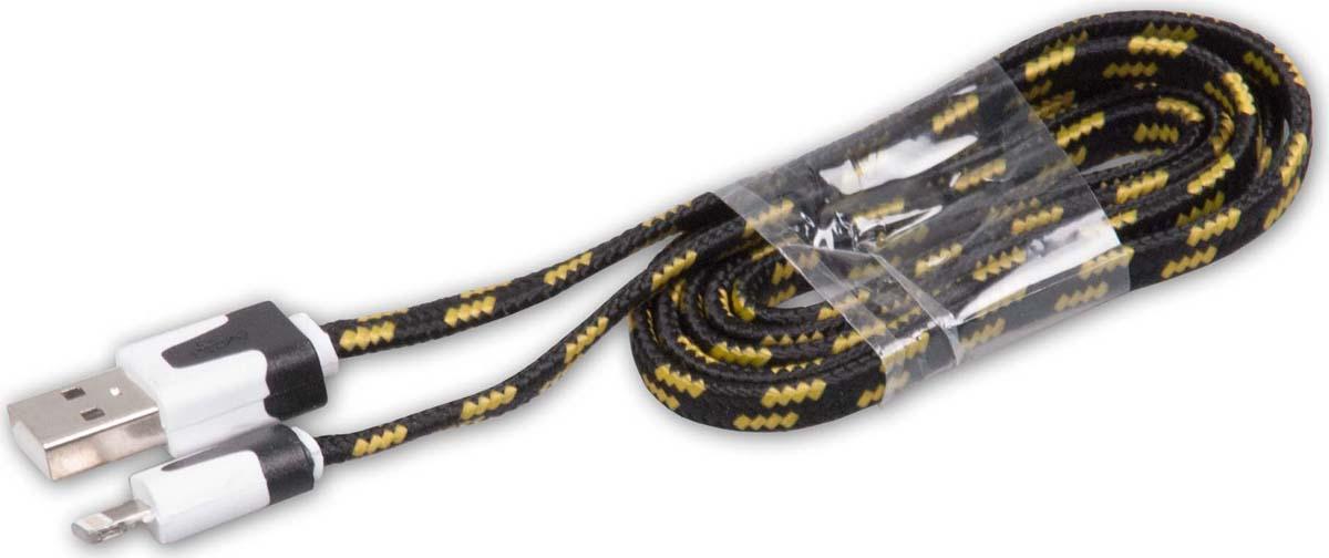 Кабель Ritmix RCC-221 Apple Lightning - USB, 15118994, черный, 1 м ritmix rcc 322 blue кабель usb lightning 1 м