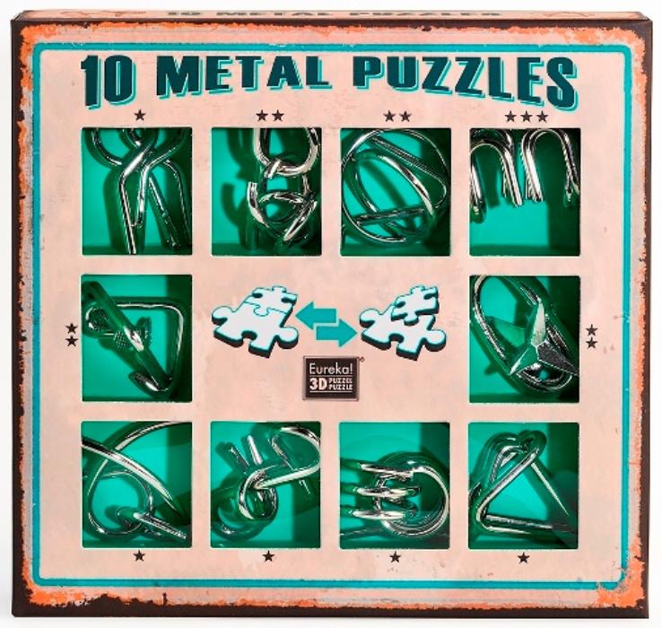 Головоломка 3D Puzzle Eureka Набор из 10 шт, зеленый кен рассел филип картер 160 головоломок в картинках три уровня сложности