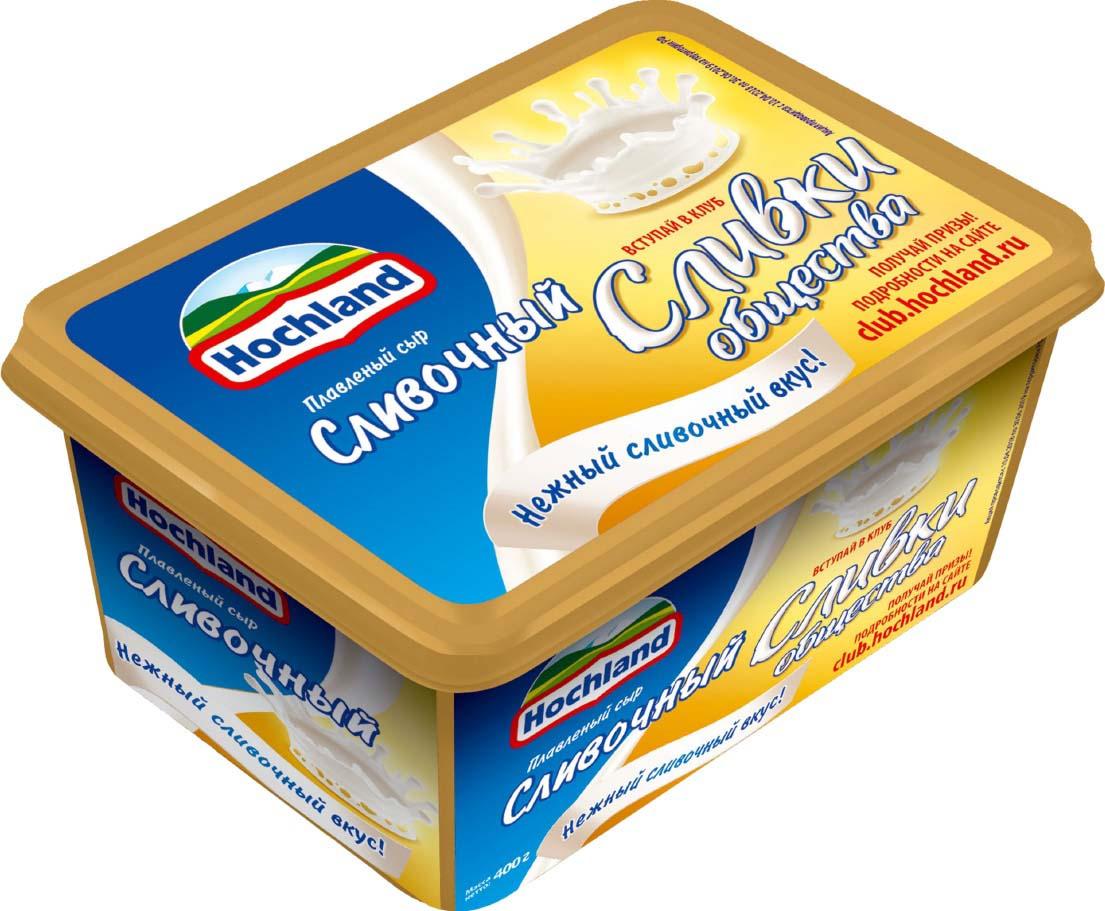Плавленый сыр Hochland Сливочный, 400 г