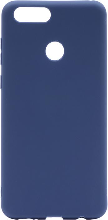 Чехол для сотового телефона GOSSO CASES для Huawei Honor 7X Soft Touch, 201909, темно-синий чехол для сотового телефона gosso cases для huawei honor 7x soft touch 201910 черный