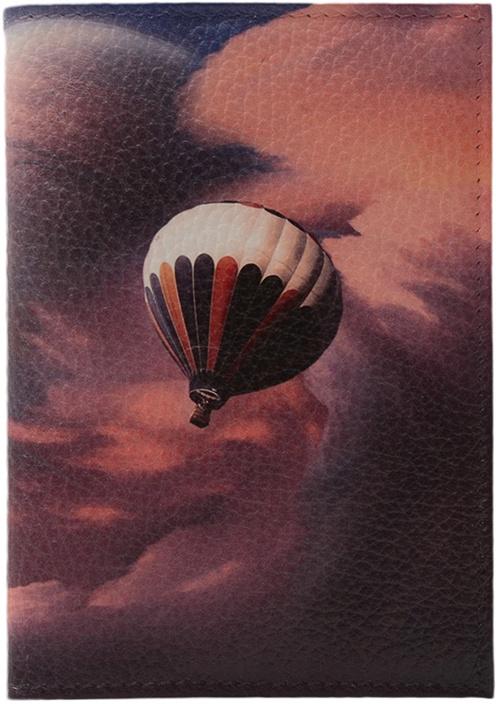 Обложка для паспорта ELOLE DESIGN для паспорта RAINBOW SMILE с принтом, 193540, темно-синий ежедневник с принтом коллекция elole design космос черный нат кожа