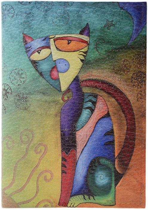 Обложка для паспорта ELOLE DESIGN для паспорта RAINBOW SMILE с принтом, 193542, голубой ежедневник с принтом коллекция elole design космос черный нат кожа