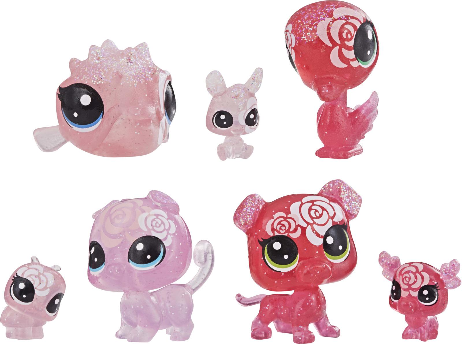 Игровой набор Littlest Pet Shop Core 7 Цветочных Петов, E5149EU4, цвет: красный