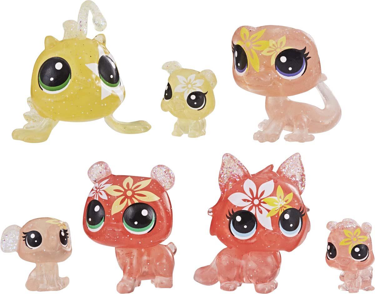 Игровой набор Littlest Pet Shop Core 7 цветочных Петов, E1935EU4_ E5164, оранжевый игровой набор хобби петов фотостудия littlest pet shop