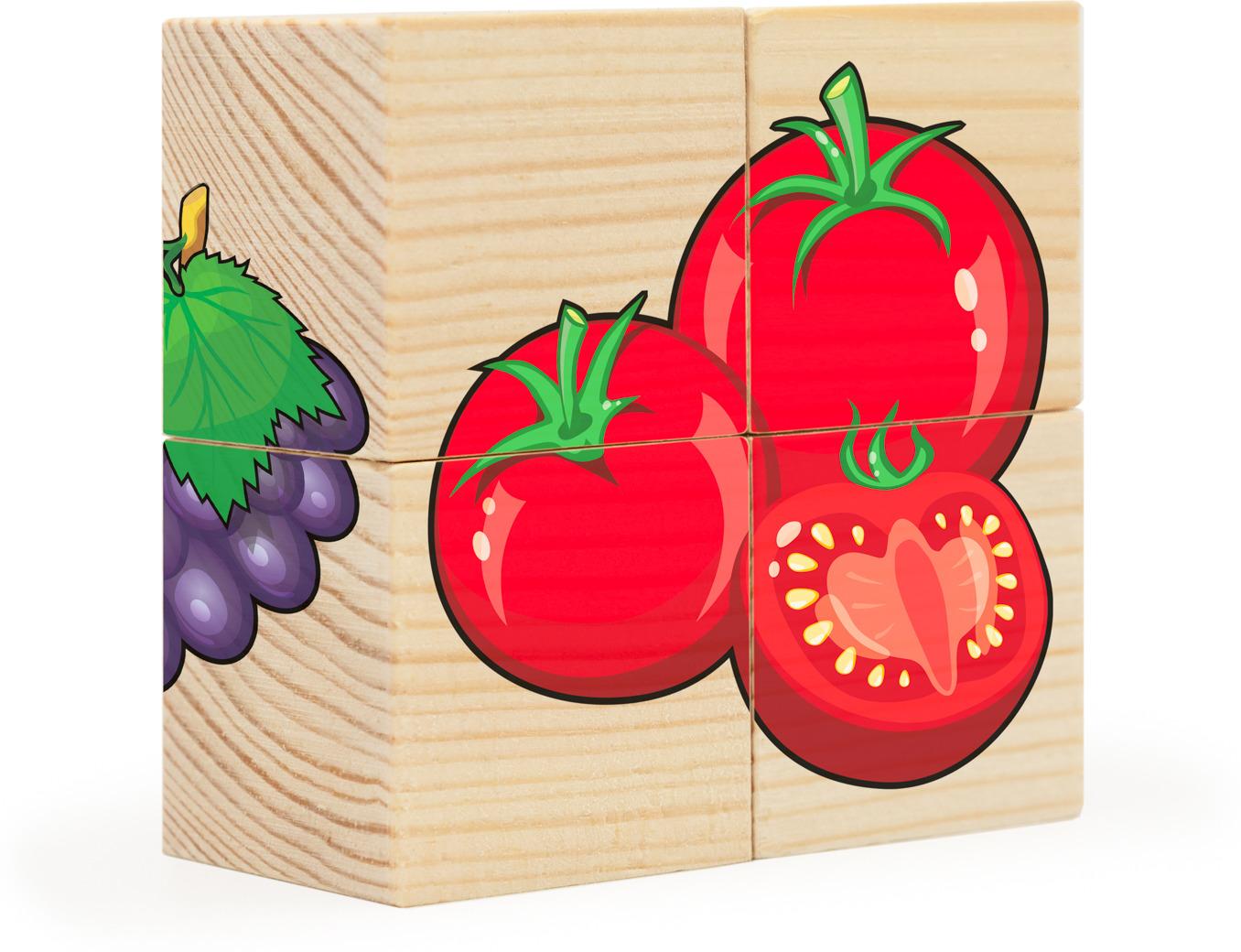 Фото - Деревянные кубики АНДАНТЕ Фрукты-овощи развивающие деревянные игрушки кубики фрукты