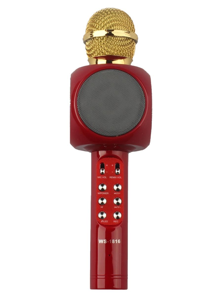 Микрофон Wster WS-1816, 4605170003286, красный цена