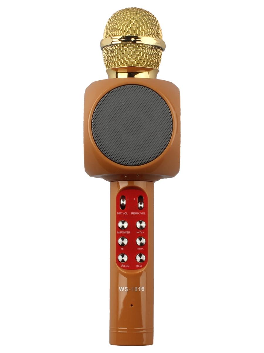 Микрофон Wster WS-1816, 4605170003293, оранжевый караоке handheld ktv ws 1816r red