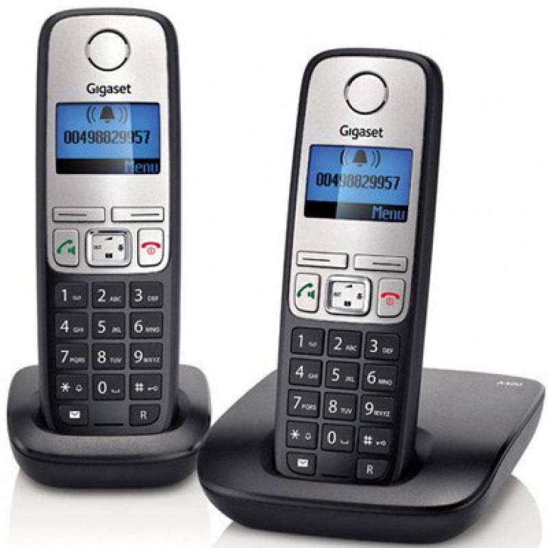 Радиотелефон Gigaset A415 DUO RUS BLACK, L36852-H2505-S301, черный радиотелефон siemens gigaset a120 duo черный l36852 h2401 s301