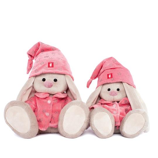 """Мягкая игрушка """"Зайка Ми"""" в розовой пижаме 23 см"""