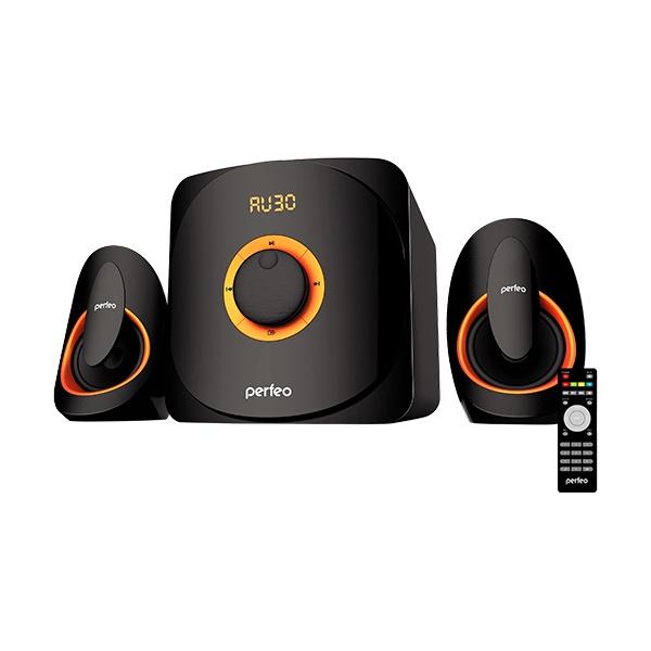 Компьютерная акустика Perfeo MARS, PF_5228, черный hy 502 hi fi цифровой автомобильный стерео усилитель мощности led звуковой режим аудио музыкальный плеер поддержка usb mp3 dvd sd fm
