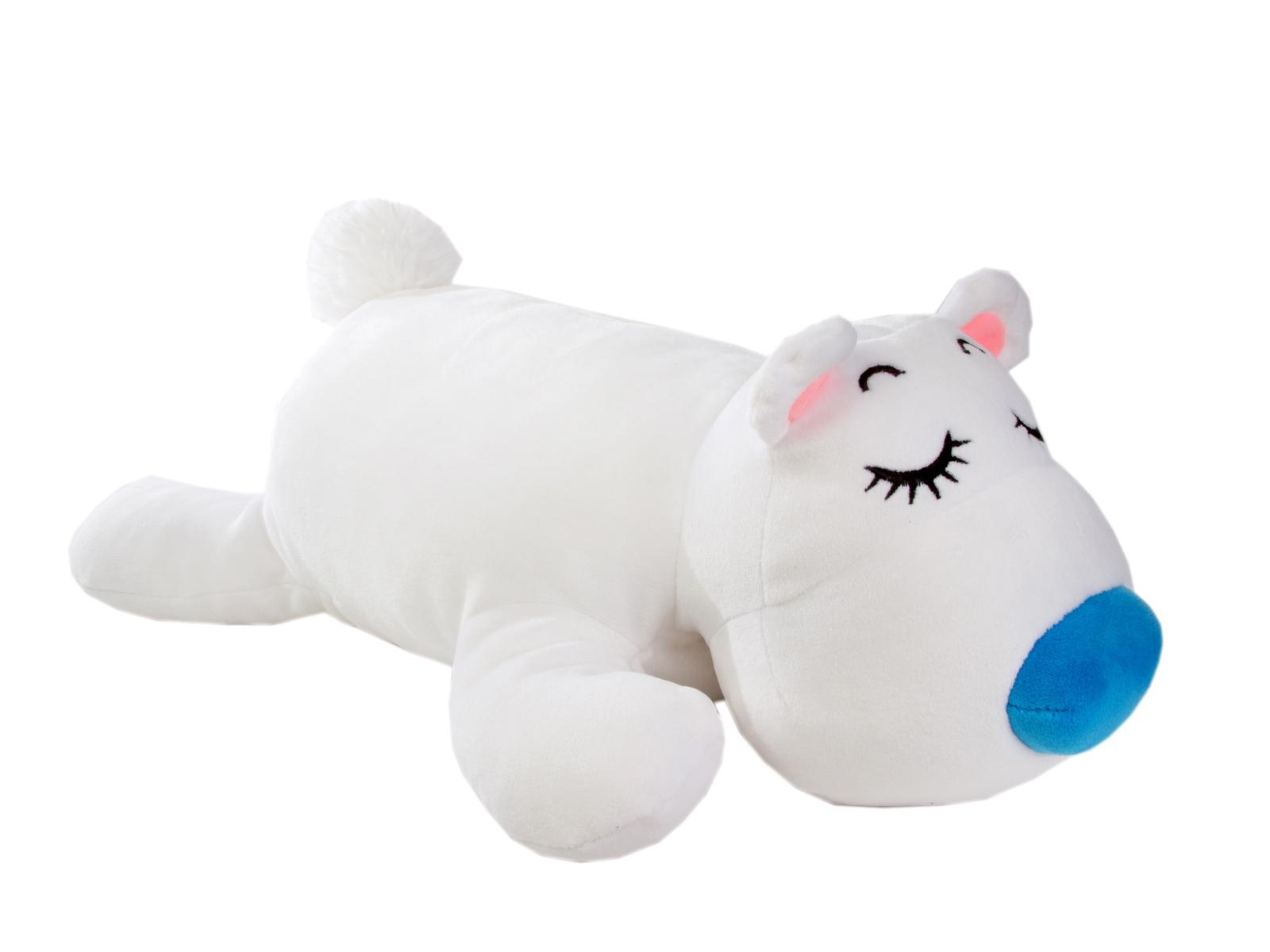 Мягкая игрушка СмолТойс Медвежонок Лежебока длина 52см белый