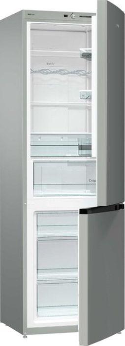 Холодильник Gorenje NRK6191GHX4, двухкамерный, серебристый цена в Москве и Питере