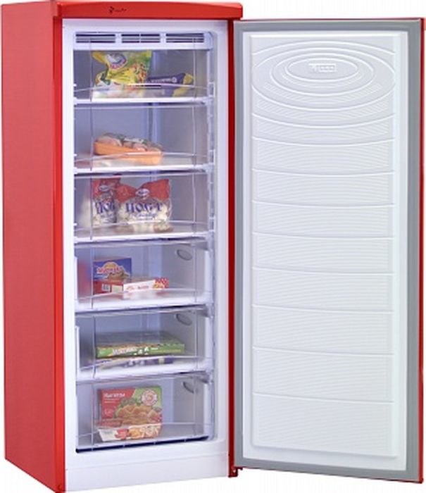 лучшая цена Морозильник Nord DF 165 RAP, красный