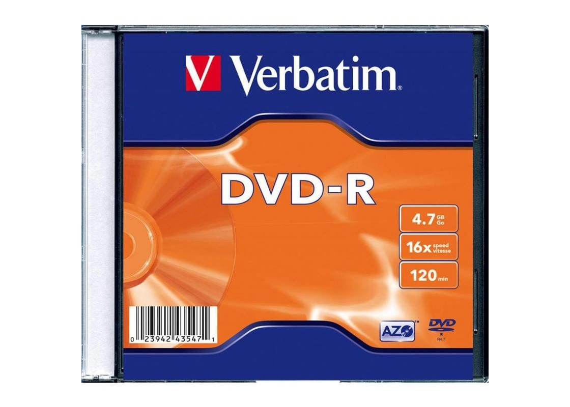 DVD-R Verbatim DVD, синий, желтый
