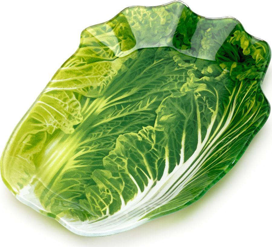 Блюдо сервировочное Walmer Greenery, 13 х 18 см