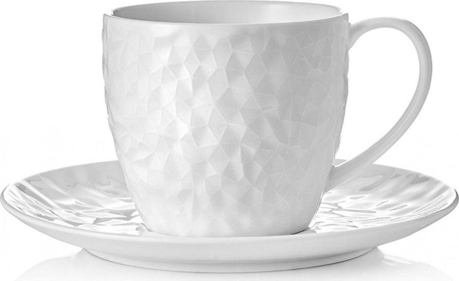 цена на Чайная пара Walmer Crystal, W07870025, белый, 250 мл, 2 предмета