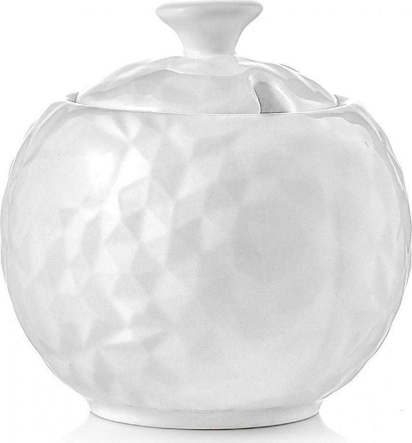 Сахарница Walmer Crystal, с отверстием для ложки, белый, 250 мл