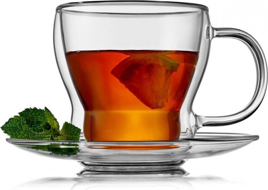 Чайная пара Walmer Cordial, W37000205, прозрачный, 250 мл, 2 предмета