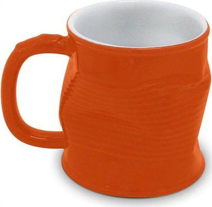 Кружка Ceraflame Мятая, оранжевый, 320 мл
